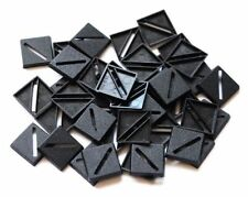 100 (One Hundred) 20mm Square Slotta Bases Wargaming Roleplaying Black Plastic