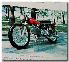 1972 Harley-Davidson Papier Shortster Minibike Leggero Sprint Ss SX 250 Rapido