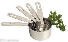 18/10 Stainless Steel 5 pc Set PRO Measuring Measure Cups NEW Nesting
