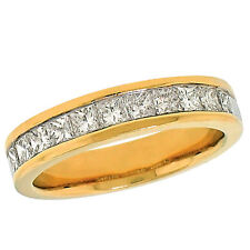 1.00ctw Channel Set 11 Princess Cut Diamond Ladies Wedding Band 14K Yellow Gold
