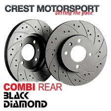 BLACK DIAMOND Combi Solid Rear Brake Discs (232mm) Drilled/Grooved KBD1027COM
