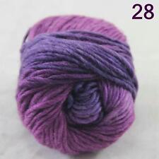 SALE NEW Chunky Colorful Hand Knitting Scores Wool Yarn Purple Plum lilac