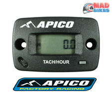 Apico Hour Meter for Motocross MX Trials Enduro Quad Bikes Motorcycle With RPM