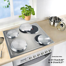 4 Pcs/Set Stainless Steel Stove Top Covers Kitchen Round Burner Covers