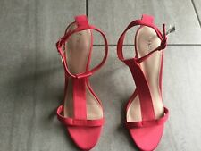 Next Ladies Pink High Heeled Strappy Shoes Size 5 1/2 BNWT RRP £28.