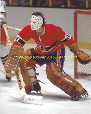 "MICHEL ""BUNNY"" LAROCQUE Defends NET 8x10 Photo MONTREAL CANADIENS GOALIE WoW"