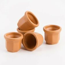 Empty Flower Mini Clay Pots succulents and dirt .875 inches 5 pack
