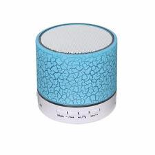 Diseñador de LED Azul Altavoz portátil Bluetooth Mini altavoces móvil inalámbrica NUEVO