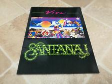 1988 Carlos Santana Viva World Tour Program Programme tour book