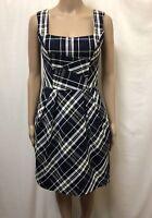 Cue Dress Womens ~ Size 6 ~ Great Cond Plaid Tartan Print Design Casual Business