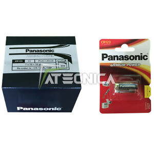 10 batterie pile Panasonic CR123 3V Litio DL123A CR123A EL123A sensori wireless