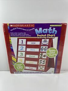 Scholastic Math Pocket Chart Activity Center ~ Pre-K to 1 ~ New ~ Free Shipping