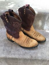 Sturdy ARIAT Women's 7.5B Leather Cowboy Western Boot #15678 Tan/Brown NICE