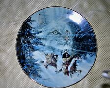 Twice Traveled Trail Collector Plate That has a camouflage picture of a Bobcat