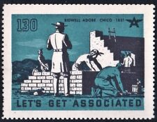 """Let's Get Associated #130 """"Bidwell Adobe: Chico 1851"""" Mnh"""