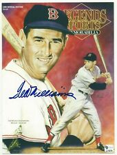 TED WILLIAMS signed print BOSTON RED SOX, with 2 COAs