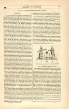 Automate Faisant des Libations Marmite à Vapeur Projectile/Eolipyle GRAVURE 1847