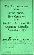 The reconstruction of the four plates 5c of the  Rivadavia series by C. Jewell.