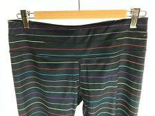Athleta Blue Striped Legging Crop Capri Pant.  Size Women's Medium