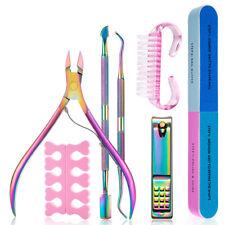 7Pcs Set Nail Art Exfoliating Tools Scissors Cuticle Pusher Nipper Files Remover