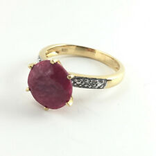 4.5 ct Natural Unheated Untreated Ruby Ring 925 Sterling Silver Size 6.5