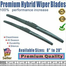 "24"" + 17"" Premium  Windshield Wiper Blades  OEM Quality J-Hook"