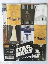STAR WARS WRAPPING PAPER by HALLMARK 2 GIFT WRAP& 2 TAGS PACK - BIRTHDAY 9086