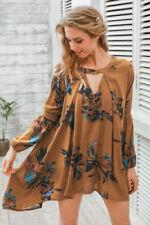 Boho Regular Dresses for Women with Pleated