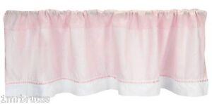 Picci Petra Valance Pink White Girl's Nursery Window Treatment Italian Designer