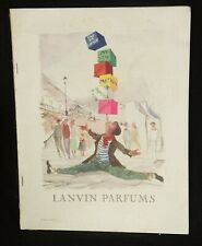 """VINTAGE PLAISIR DE FRANCE """"LANVIN PARFUMS 1954 EDITION"""" CIRCUS ACROBAT AS IS"""