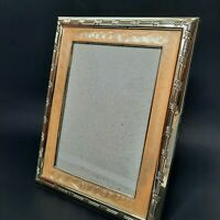 Burnes Of Boston 5x7 Photo Picture Frame Enameled Silver Ivory