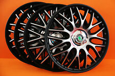 "14"" Skoda Fabia ,etc...Wheel Trims / Covers, Hub Caps,Quantity 4,Black&silver"