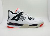 Nike Air Jordan 4 Retro White/Bright Crimson/Hot Lava  BQ7669-116 Youth Size 2Y