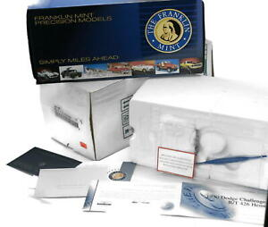 Franklin Mint 1970 Dodge Challenger (no car) BOX & PAPERS ONLY B11E509