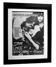 STIFF LITTLE FINGERS+Hanx+POSTER+AD+RARE ORIGINAL 1979+FRAMED+FAST GLOBAL SHIP