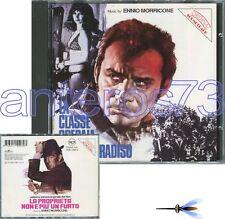 """ENNIO MORRICONE """"LA CLASSE OPERAIA VA IN PARADISO"""" RARE CD RCA 1993"""