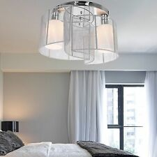 US Crystal Chandelier Ceiling 2Lamp Pendant Lighting Fixture Modern Contemporary
