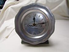 Nabisco Metal Plate Battery Table Clock 6in Diameter