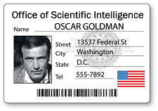 Oscar Goldman Six Million Dollar Man Name Badge Halloween Cosplay Magnet Back