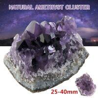 Natural Amethyst Cluster Crystal Quartz Stones Healing Rough Mineral Specimen AU