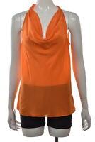NEW Banana Republic Trina Turk Womens Top Size 12 Orange Blouse Shirt Silk