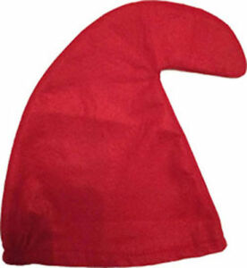RED Garden Gnome Hat Seven 7 Dwarves Smurf Smurfette Curley Hat Fancy Dress