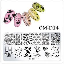 Nail Art Stamping Plate Image Decoration Summer Holidays Pineapple Birds OMD14