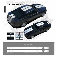 Ford Mustang 2013+ Bumper to Bumper Rally Stripes Graphic Kit - Bright White