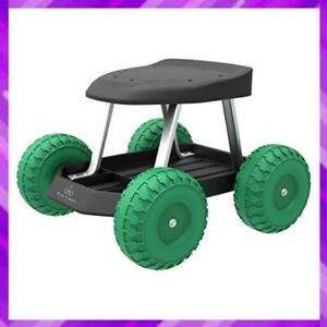 CART ROLLING STOOL with Wheels Seat Tool Tray Gardening Accessories PURE GARDEN