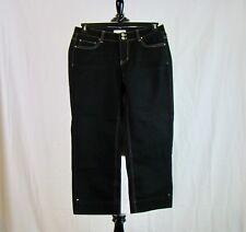 White House Black Market Noir Black Cropped Capri Jeans - NWT - Size 6