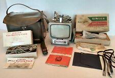 New listing Vintage Singer Uhf Tv6 Set Instructions Antenna Cord Portable Model Tva 6U