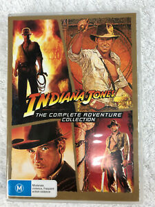 Indiana Jones (DVD, 2015, 4-Disc Set) The Complete Adventure Collection M