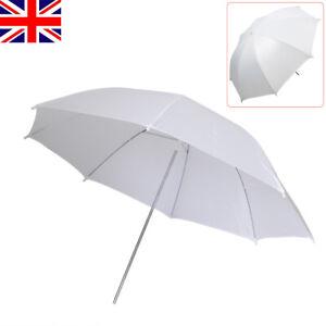 """Photography 33"""" Umbrella White Translucent Photographic Flash Light Reflector UK"""