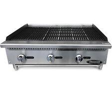 36 Char Broiler Grill 3 Burner Charbroiler Radiant Natural Lp New 3 Charcoal